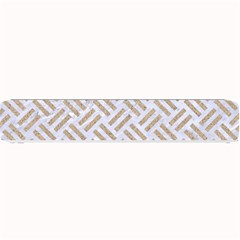 Woven2 White Marble & Sand (r) Small Bar Mats by trendistuff