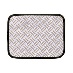 Woven2 White Marble & Sand (r) Netbook Case (small)  by trendistuff