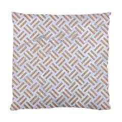 Woven2 White Marble & Sand (r) Standard Cushion Case (two Sides) by trendistuff