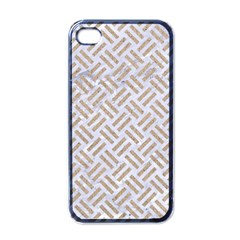 Woven2 White Marble & Sand (r) Apple Iphone 4 Case (black) by trendistuff
