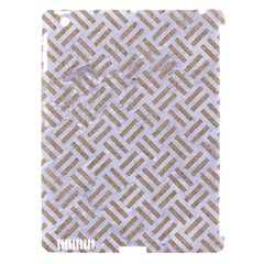 Woven2 White Marble & Sand (r) Apple Ipad 3/4 Hardshell Case (compatible With Smart Cover) by trendistuff