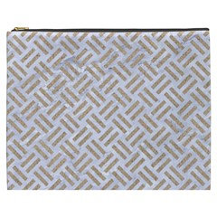 Woven2 White Marble & Sand (r) Cosmetic Bag (xxxl)  by trendistuff
