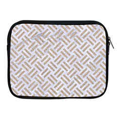 Woven2 White Marble & Sand (r) Apple Ipad 2/3/4 Zipper Cases by trendistuff