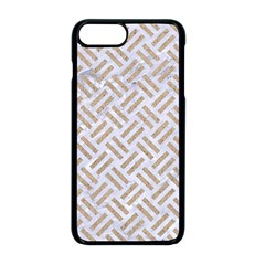 Woven2 White Marble & Sand (r) Apple Iphone 8 Plus Seamless Case (black) by trendistuff