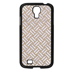 Woven2 White Marble & Sand Samsung Galaxy S4 I9500/ I9505 Case (black) by trendistuff