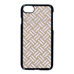 Woven2 White Marble & Sand Apple Iphone 7 Seamless Case (black) by trendistuff