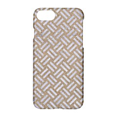 Woven2 White Marble & Sand Apple Iphone 8 Hardshell Case by trendistuff
