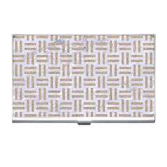 Woven1 White Marble & Sand (r)woven1 White Marble & Sand (r) Business Card Holders by trendistuff
