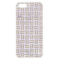 Woven1 White Marble & Sand (r)woven1 White Marble & Sand (r) Apple Iphone 5 Seamless Case (white) by trendistuff