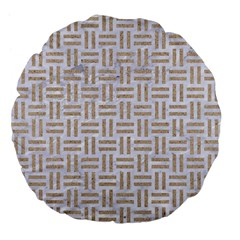 Woven1 White Marble & Sand (r)woven1 White Marble & Sand (r) Large 18  Premium Flano Round Cushions by trendistuff