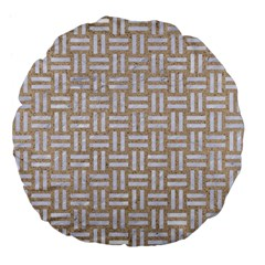 Woven1 White Marble & Sand Large 18  Premium Flano Round Cushions by trendistuff