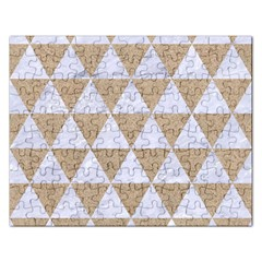 Triangle3 White Marble & Sand Rectangular Jigsaw Puzzl by trendistuff