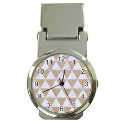 Triangle3 White Marble & Sand Money Clip Watches by trendistuff