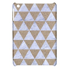 Triangle3 White Marble & Sand Apple Ipad Mini Hardshell Case by trendistuff