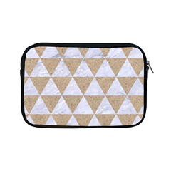 Triangle3 White Marble & Sand Apple Ipad Mini Zipper Cases by trendistuff