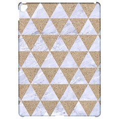 Triangle3 White Marble & Sand Apple Ipad Pro 12 9   Hardshell Case by trendistuff