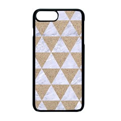 Triangle3 White Marble & Sand Apple Iphone 7 Plus Seamless Case (black) by trendistuff
