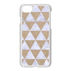 Triangle3 White Marble & Sand Apple Iphone 7 Seamless Case (white) by trendistuff
