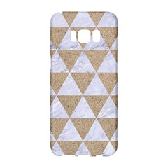 Triangle3 White Marble & Sand Samsung Galaxy S8 Hardshell Case  by trendistuff
