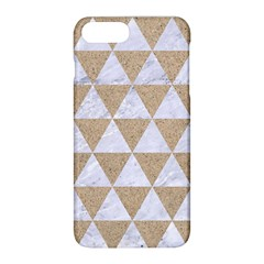 Triangle3 White Marble & Sand Apple Iphone 8 Plus Hardshell Case by trendistuff