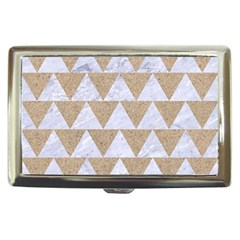 Triangle2 White Marble & Sand Cigarette Money Cases by trendistuff