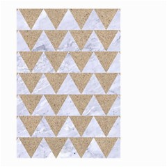 Triangle2 White Marble & Sand Small Garden Flag (two Sides) by trendistuff