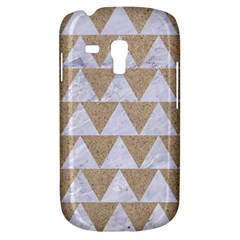 Triangle2 White Marble & Sand Galaxy S3 Mini by trendistuff