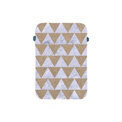 Triangle2 White Marble & Sand Apple Ipad Mini Protective Soft Cases by trendistuff