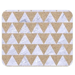 Triangle2 White Marble & Sand Double Sided Flano Blanket (medium)  by trendistuff