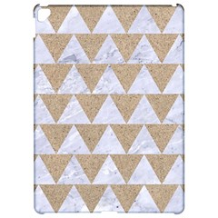Triangle2 White Marble & Sand Apple Ipad Pro 12 9   Hardshell Case by trendistuff