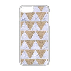 Triangle2 White Marble & Sand Apple Iphone 8 Plus Seamless Case (white) by trendistuff
