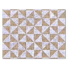 Triangle1 White Marble & Sand Rectangular Jigsaw Puzzl by trendistuff