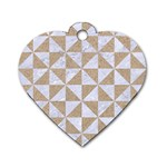 TRIANGLE1 WHITE MARBLE & SAND Dog Tag Heart (One Side) Front