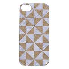 Triangle1 White Marble & Sand Apple Iphone 5s/ Se Hardshell Case by trendistuff