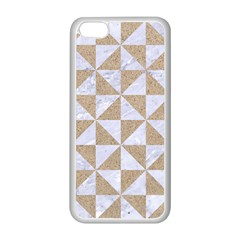 Triangle1 White Marble & Sand Apple Iphone 5c Seamless Case (white) by trendistuff