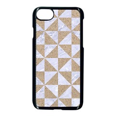 Triangle1 White Marble & Sand Apple Iphone 8 Seamless Case (black) by trendistuff