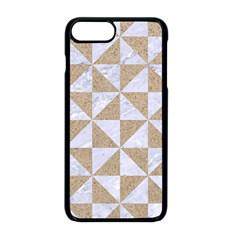 Triangle1 White Marble & Sand Apple Iphone 8 Plus Seamless Case (black) by trendistuff