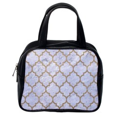Tile1 White Marble & Sand (r) Classic Handbags (one Side) by trendistuff