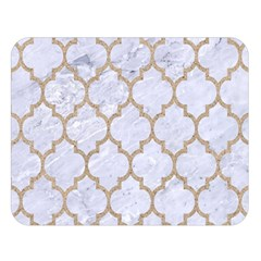 Tile1 White Marble & Sand (r) Double Sided Flano Blanket (large)  by trendistuff