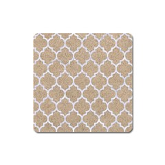 Tile1 White Marble & Sand Square Magnet by trendistuff