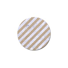 Stripes3 White Marble & Sand (r) Golf Ball Marker (10 Pack) by trendistuff