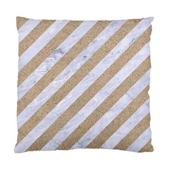 Stripes3 White Marble & Sand (r) Standard Cushion Case (two Sides) by trendistuff