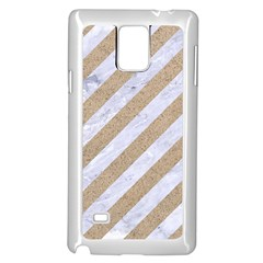Stripes3 White Marble & Sand (r) Samsung Galaxy Note 4 Case (white) by trendistuff
