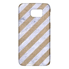 Stripes3 White Marble & Sand (r) Galaxy S6 by trendistuff