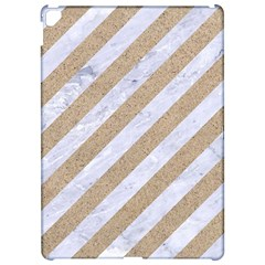 Stripes3 White Marble & Sand (r) Apple Ipad Pro 12 9   Hardshell Case by trendistuff