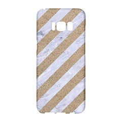 Stripes3 White Marble & Sand (r) Samsung Galaxy S8 Hardshell Case  by trendistuff