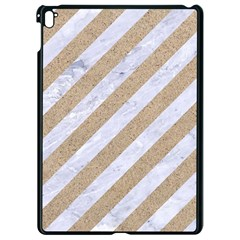 Stripes3 White Marble & Sand (r) Apple Ipad Pro 9 7   Black Seamless Case by trendistuff