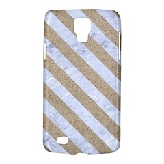 Stripes3 White Marble & Sand Galaxy S4 Active