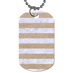 Stripes2white Marble & Sand Dog Tag (one Side) by trendistuff
