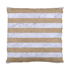 Stripes2white Marble & Sand Standard Cushion Case (two Sides) by trendistuff
